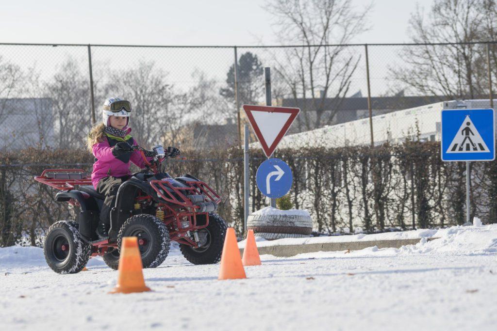 Kinderverkehrstraing in Fürstenfeldbruck auf Quads