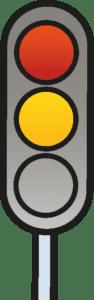 Lichtzeichen rot und gelb
