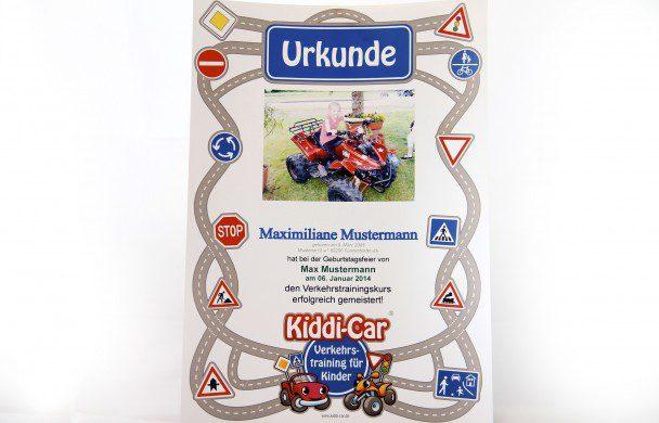 Urkunde von Kiddi-Car
